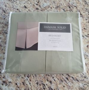 NWT- DAMASK Solid by Charter Club Twin Bedskirt